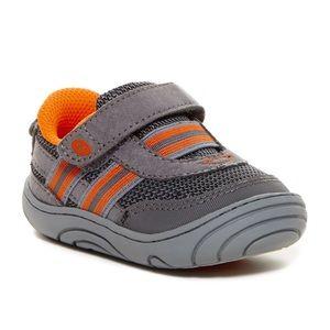 Stride Rite Caden Sneaker Grey Baby/Toddler 5